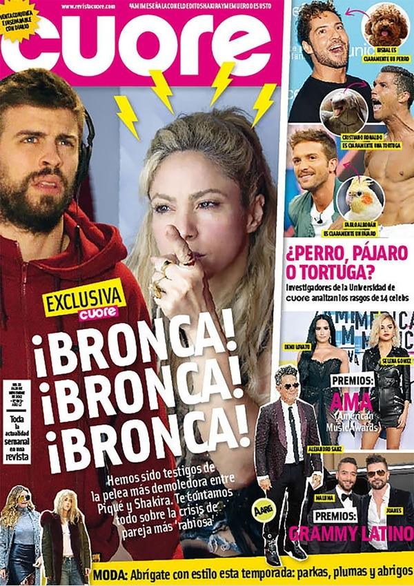 La portada de la revista Cuore
