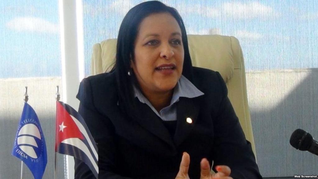 Mayra Arevich, presidenta de ETECSA